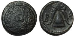 Ancient Coins - Alexander III the Great Ae Unit : Shield with Thunderbolt / Helmet