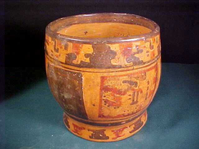 Ancient Coins - Mayan Cylinder Vessel