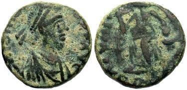 Ancient Coins - Johannes AD 423-425  AE4