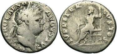Ancient Coins - Nero AD 54-68, AR Denarius