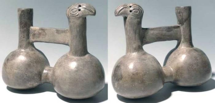 Ancient Coins - Chimu Parrot vessel, Peru, AD 1100-1450