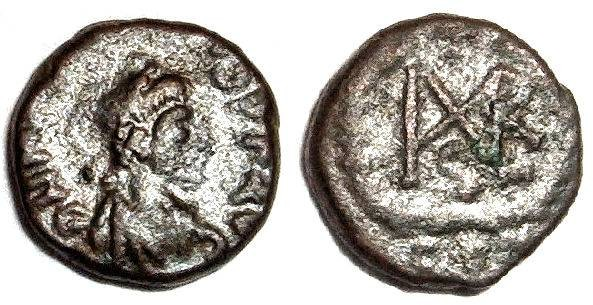 Ancient Coins - Marcian monogram 3
