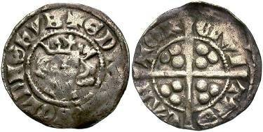 Ancient Coins - England, Edward I AD 1272-1307, AR Penny, 1.3g, 18mm