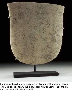 Ancient Coins - Valdivia Limestone Hacha, Ecuador. Ca. 2300-2000 B.C