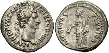 Ancient Coins - Nerva, AD 96-98, AR Denarius