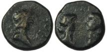 Ancient Coins - Britannicus : Cyzikus Mysia : Busts of Octavia & Antonia