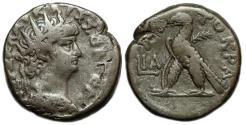 Ancient Coins - Nero BI Tetradrachm ; Alexandria : Eagle