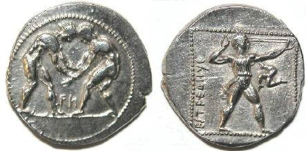 Ancient Coins - Pamphylia, Aspendos. Ca. 380-325 B.C. AR stater