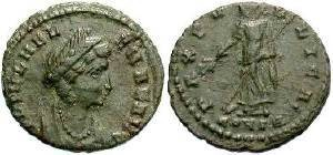 Ancient Coins - Helena (Died AD 330),  Mother of Constantine I, AE-4 (AD 330)