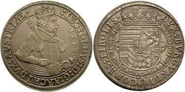 Ancient Coins - Austria, Archduke Leopold,  AR (Hull) Taler  1632