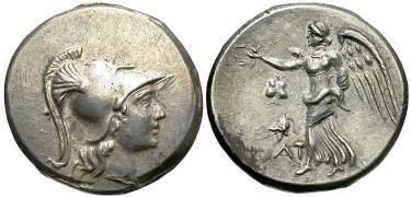 Ancient Coins - Side, Pamphylia 2nd - 1st Century BC, AR Tetradrachm, 16.9g, 29mm