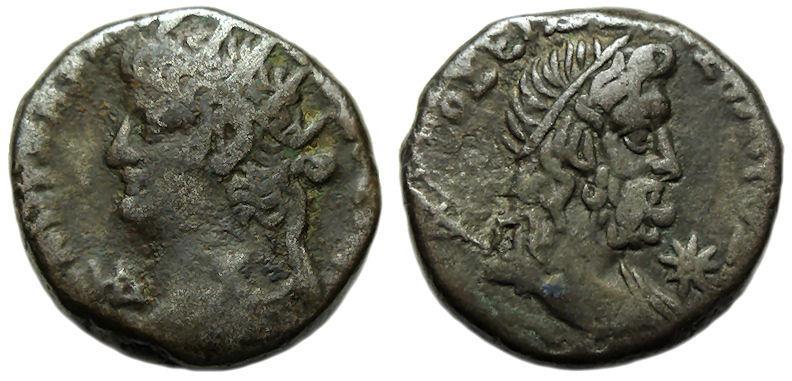 Ancient Coins - Nero BI Tetradrachm ; Alexandria : Bust of Poseidon