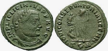 Ancient Coins - Licinius AD308-324, AE Follis