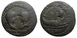 Ancient Coins - Gordian III and Tranquillina : Anchialus Thrace : Galley Reverse    Scarce