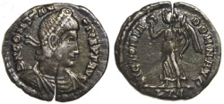 Ancient Coins - Constantius II AR Siliqua : VICTORIA DD NN AVG