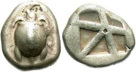 Ancient Coins - Attica, Aegina,  480-456 BC, AR Stater, 12.02 gm