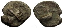 Ancient Coins - Kythera, Islands off Lakonia : Aphrodite / Dove Flying : Rare