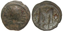 Ancient Coins - Anastasius Follis, AD 491 to 518 : Constantinople