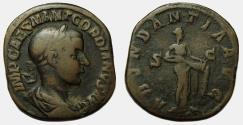 Ancient Coins - Gordian III Æ Sestertius scarce