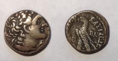 Ancient Coins - Egypt Ptolemy IX Soter, AR Tetradrachm