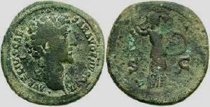 Ancient Coins - Marcus Aurelius Sestertius, 139-161 A.D.