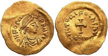 Ancient Coins - Phocas AV Tremissis