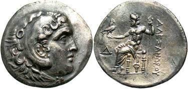 Ancient Coins - Macedon, Alexander III 215/214 BC, AR Tetradrachm, Phaselis Mint