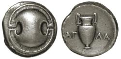 Ancient Coins - Thebes Boeotia AR Stater : Boeotian Shield / Amphora