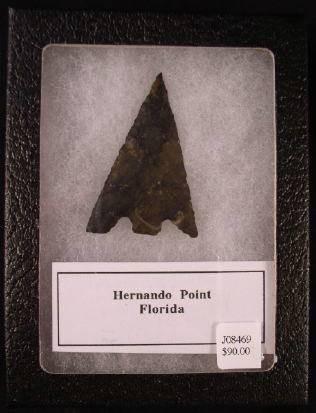Ancient Coins - Florida Indian Arrowhead - Hernando Point