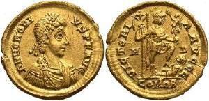 Ancient Coins - Honorius AD  393-423 AV Solidus