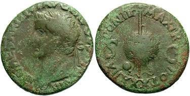 Ancient Coins - Tiberius  AD 14 - 37  AE As