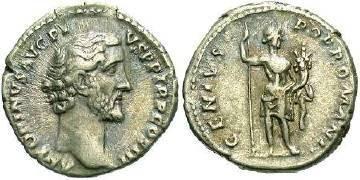 Ancient Coins - Antoninus Pius AD138-161 AR Denarius