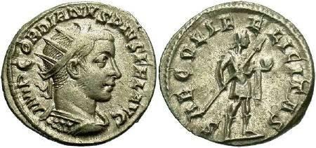 Ancient Coins - Gordian III, AD 238-244,  AR Antoninianus