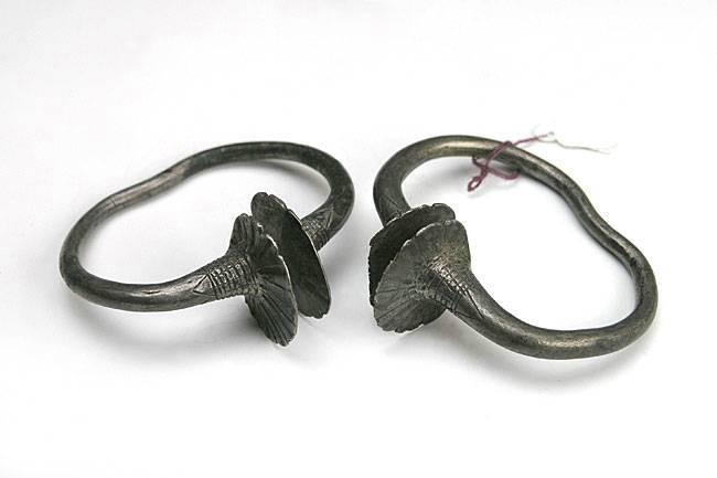Ancient Coins - Pair of Silver Celtic Bracelets c300-100BC