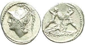 Ancient Coins - Q. Minucius M.f. Thermus, AR Denarius