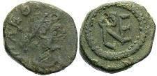 Ancient Coins - Leo AD 457-474  AE4 Monogram