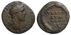 Ancient Coins - Antoninus Pius Ae Dupondius : TR POT / XIX / COS IIII / SC