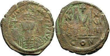 Ancient Coins - Justinian I AD 527-565, Large AE Follis
