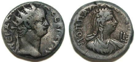 Ancient Coins - Nero, with Poppaea. AD 54-68. Tetradrachm