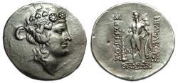 Ancient Coins - Thasos Thrace AR Tetradrachm : Dionysos / Herakles Standing
