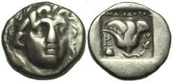 Ancient Coins - Rhodes, Carian Islands, AR Hemidrachm