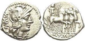 Ancient Coins - M. Vargunteius AR Denarius, XF