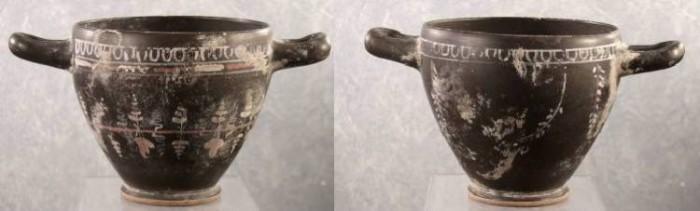Ancient Coins - Gnathian Skyphos, Southern Italian (Apulia). 4th BC