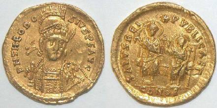 Ancient Coins - Theodosius II, AD 402-450  AV Solidus