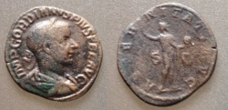Ancient Coins - Gordian III AE Sestertius, AD 238-244