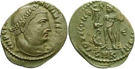 Ancient Coins - Constantine I AD 307-337 AE Follis