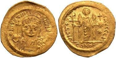 Ancient Coins - Justinian I AD 527-565, AV Solidus