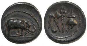 Ancient Coins - Julius Caesar. 49-48 BC. AR Denarius