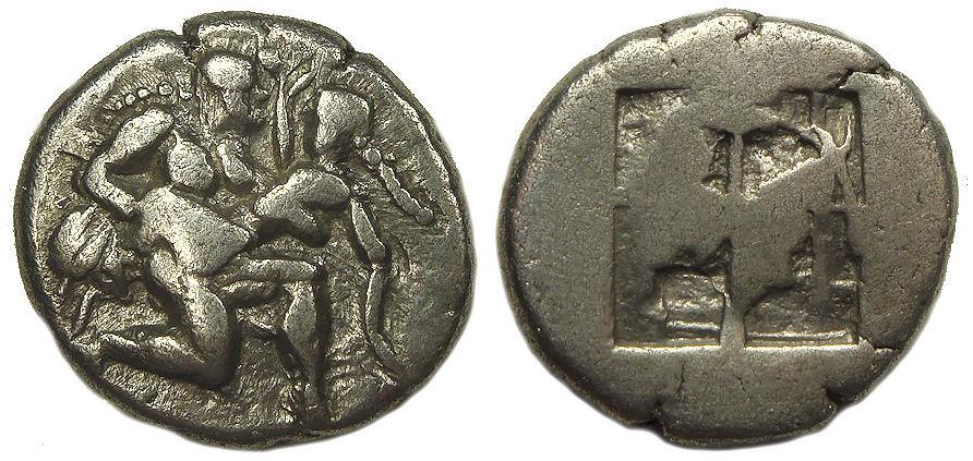 Ancient Coins - Islands off  Thrace, Thasos AR Drachm