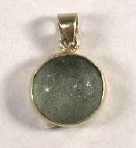 Ancient Coins - Glass Pendant, Green, Roman